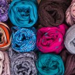 Accessory - Scarfs - Different Textures And Colors — Stock Photo #71922567