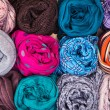 Accessory - Scarfs - Different Textures And Colors — Stock Photo #71922721