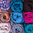 Accessory - Scarfs - Different Textures And Colors — Stock Photo #71922881