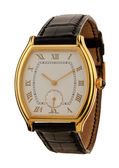 Men's gold watch isolated — Photo