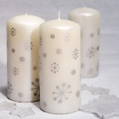 Still life three candles with stars — Stock fotografie