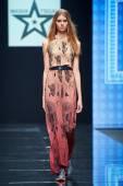 A model walks on the Masha Tsigal catwalk — ストック写真