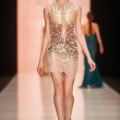 A model walks on the Tony Ward catwalk — Stock Photo #69972657