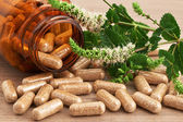 Homeopatic medicine in capsules — Stock Photo