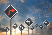 Alternative way concept by traffic sign — Stock Photo