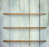 Wooden book Shelf background — Stock Photo