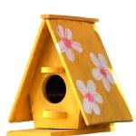 Wooden bird house isolated on white background. — Stock Photo #71217263