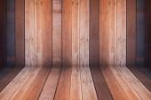 Wooden interior texture background — Stock Photo