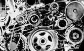 片段的引擎 — 图库照片