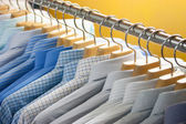 Colorful shirt on hangers — Zdjęcie stockowe