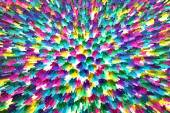 Colorful abstract geometric background with square extrude — Stock Photo