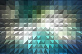 Blue extrude geometric abstract background — Stock Photo