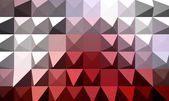 Red extrude geometric abstract background — Stock Photo