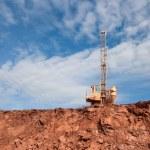 Drilling holes machine in a coal mine — Stock Photo #74444771