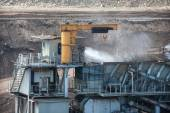 Water injection to minimize dust coal Industry — Stock Photo