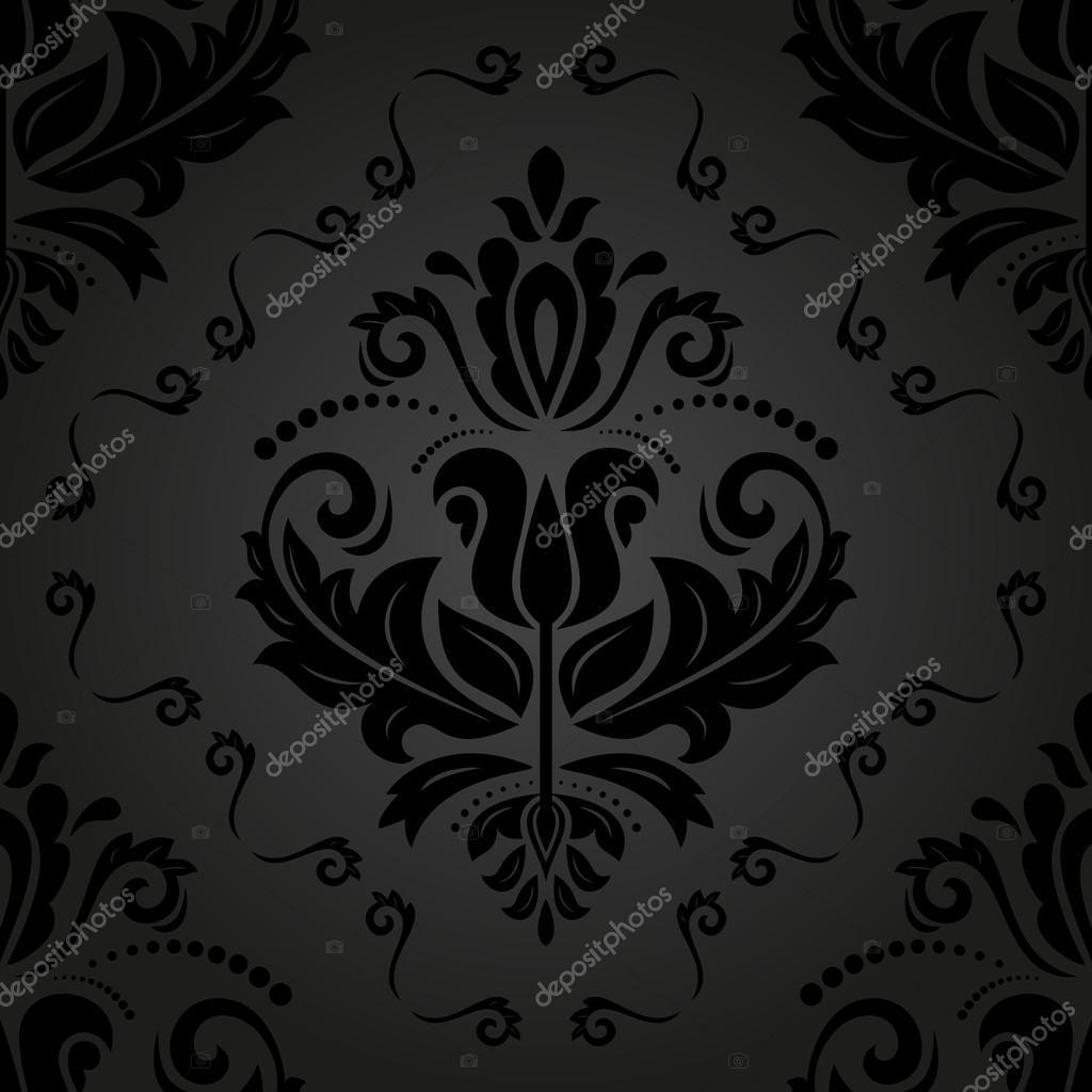 东方矢量模式与缎面, 花纹和花卉的元素.