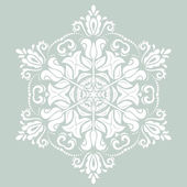Orient vector ornamental round lace — Stock Vector