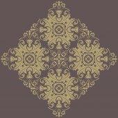 Floral naadloze vector patroon. oriënteren abstracte achtergrond — Stockvector
