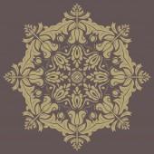 Teste padrão floral vetor. orientar abstrato — Vetorial Stock