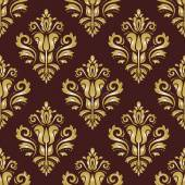 Damask Seamless Vector Pattern. Orient Background — Stock Vector