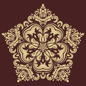 Damask Vector Pattern. Orient Background — Stock Vector