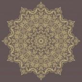 花卉矢量模式。东方抽象背景 — 图库矢量图片