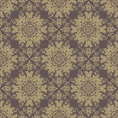 Damask Seamless Vector Pattern. Orient Background — Stockvektor