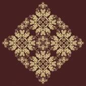 Blommig vektor mönster. orientera abstrakt bakgrund — Stockvektor