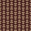 Orient Seamless Vector Pattern. Abstract Background. Brown and golden colors — Stock Vector #61535853