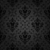 Damask Seamless Vector Dark Pattern. Orient Background — Stock Vector