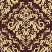 Wallpaper in the style of Baroquen. Abstract Vector Background — Stock Vector