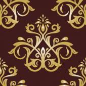 Damask Seamless  Pattern. Orient Background — Stock Photo