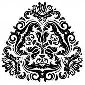 Orient Vector Pattern. Abstract Ornament. Black and white colors — 图库矢量图片