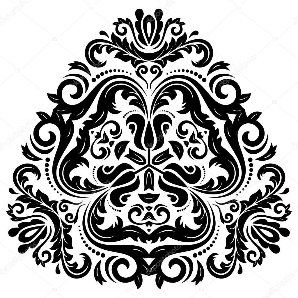 vektor muster zu orientieren abstrakte ornament farben schwarz und wei stockvektor turr1. Black Bedroom Furniture Sets. Home Design Ideas