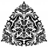 Orient Vector Pattern. Abstract Ornament. Black and White Colors — Stock Vector