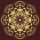 Orient Vector Pattern. Abstract Golden Ornament — Stock Vector