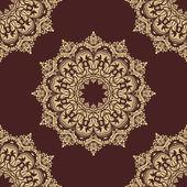 Damast naadloze vector patroon. oriënteren achtergrond — Stockvector