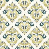Damask Seamless  Pattern. Orient Coloful Background — Stock Photo