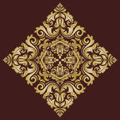 Damask  Pattern. Orient Golden Ornament — Stock Photo