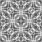 Geometric Abstract Seamless  Pattern. Black and White Colors — Stock Photo