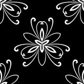 Damask Seamless  Pattern. Orient Background. Black and White Colors — Stockfoto