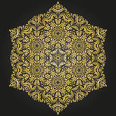 Damask  Pattern. Orient Golden Ornament — Stockfoto