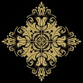Damask Vector Orient Pattern — Stockvektor