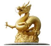 Gold Dragon Sculpture — Stock Photo