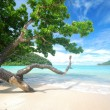 Trees near the beach — Stock Photo #73922909