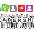 People Holding Letters Form Leadership — Stock Photo #52449247