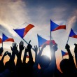 People Holding Flasg of Czech Republic — Stock Photo #52449609