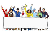 Group of Diverse Multiethnic People with Different Jobs — Stock Photo