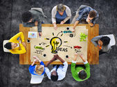 Folk planerar idéer — Stockfoto