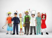 Group of Children with Professional Occupation Concepts — Stock Photo
